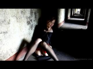 Girl Goth Masturbating In Abandoned House