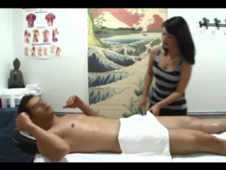 Lucky guy gets his dk massage by teen girl