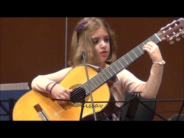 Amazing 7 Year Old girl Guitarist Konstantina Andritsou performs @ Megaro Athens HD