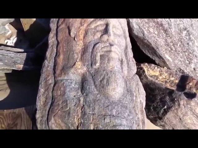 Игорь Алпатов Славянские лики на камнях пляжа в Бруклине часть 1