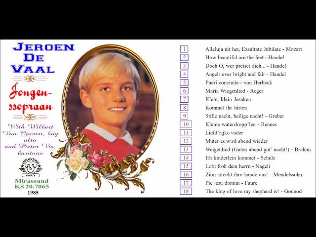 Jeroen de Vaal boy soprano sings Liefd'rijke vader LP 1985