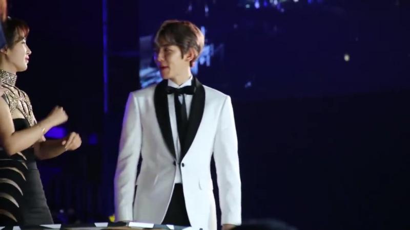 FANCAM 161226 SAF KBS Gayo Daejun @ EXO's Baekyun Reaction Big Bang Bang Bang Bang