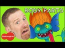 Body Parts from Steve and Maggie MORE English Stories for Kids Head Shoulders Magic English