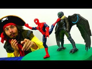 Игрушки #Супергерои Битва #ЧеловекПаук и Стервятника  Спасатели Животных! Вид ...