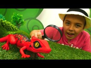 Интерактивные игрушки: робо-ящерица Robo Alive - ОБЗОР