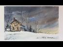 Line and Wash Watercolor. Dramatic nighttime sky. Simple, fun and easy. Peter Sheeler