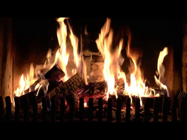 Hissing and Crackling Pine Cone Fireplace with Relaxing Fire Sounds HD