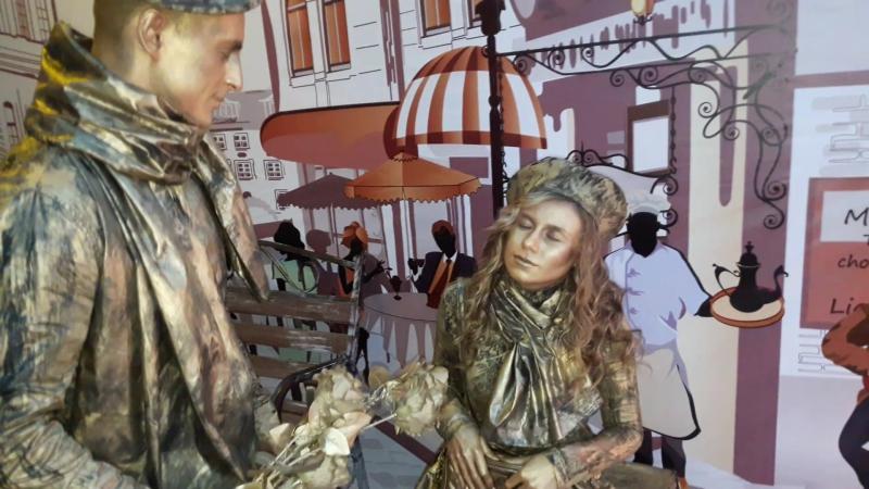 Живые статуи Золотая статуя Шоу-проект Самум Нижневартовск Мегион Радужный Стрежевой Сургут