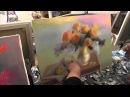 Желтые цветы в вазе розы маслом Сахаров Игорь