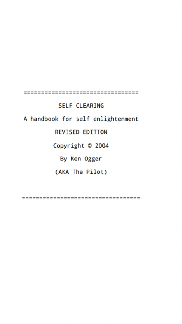 Self Clearing A handbook for self-enlightenment