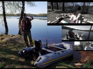 Озеро Горовалдайское,первый запуск и первые 3 часа обкатки лодочного мотора Меркурий 5  2х тактный