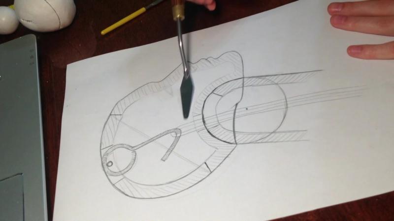 Шарнирная кукла шейный шарнир из затвердевающей на воздухе массы