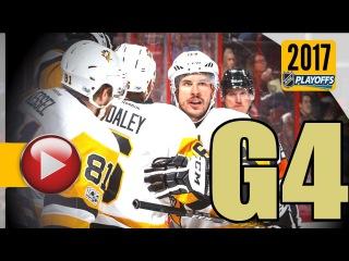 Pittsburgh Penguins vs Ottawa Senators. NHL 2017 Playoffs. Eastern Conference Final. Game 4. (HD)