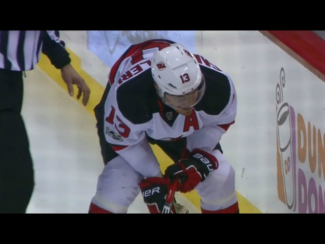 Cammalleri heads to dressing room after going awkwardly into boards