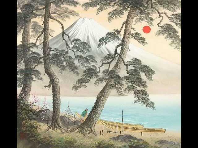 Тайко Японские барабаны Туман над фудзи