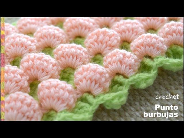 Punto burbujas en 3D y reversible tejido a crochet Tejiendo Perú