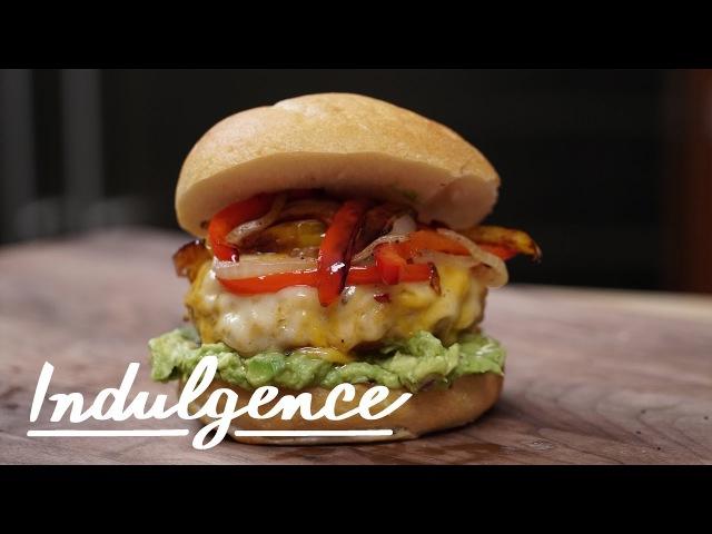 Learn How to Make this Epic Chicken Fajita Burger With Guac Of Course