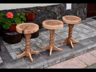 Three swivel stools