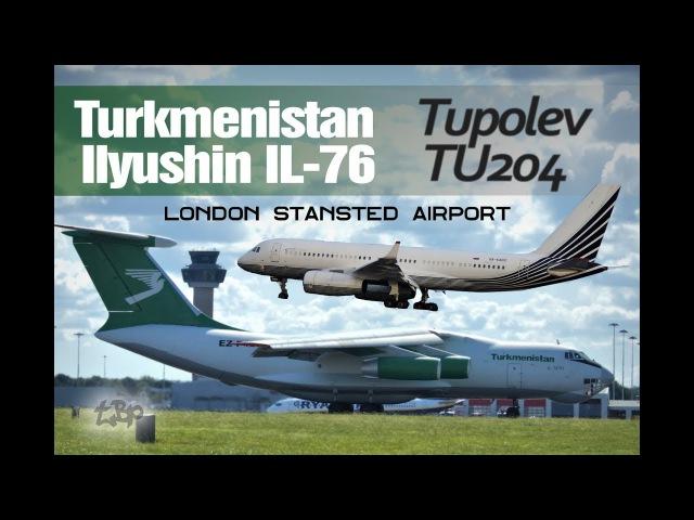 ILYUSHIN IL 76 Turkmenistan IL76 TUPOLEV TU204 of Business Aero Rare Russian Plane Spotting London