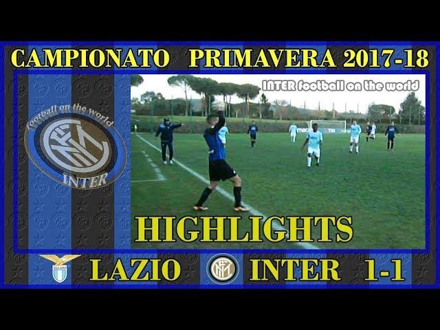 PRIMAVERA1 LAZIO INTER 1 1 * HIGHLIGHTS * AMPIA SINTESI