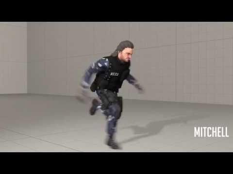 [SFM] very fast freeman hunter running at incredible hihg speed
