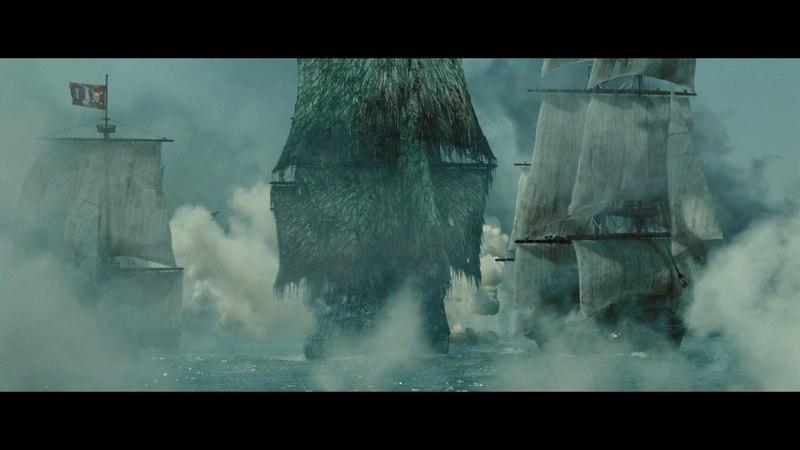 Летучий Голландец крушит корабли Мёрсер докладывает Катлеру Бекетту HD