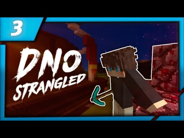 Пожар в еловом лесу и туннели через Ад Dno Strangled Private Server Single 3 Minecraft