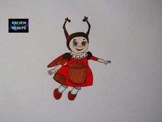 Рисую Божью коровку МИЛУ из Лунтика/253/Draw a ladybug MILA from Luntik