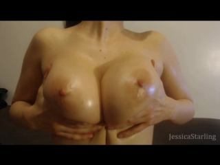 MаnуVids Jеssiса Stаrling - Oiled Up Natural Breast Worship (480p) Amateur, Busty Teen, Solo, Teasing, Big Tits