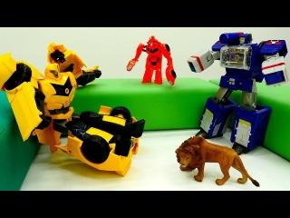 Видео игрушки БАМБЛБИ похитили#Роботы Десептиконы! #Автоботы Спасатели #Трансфо...