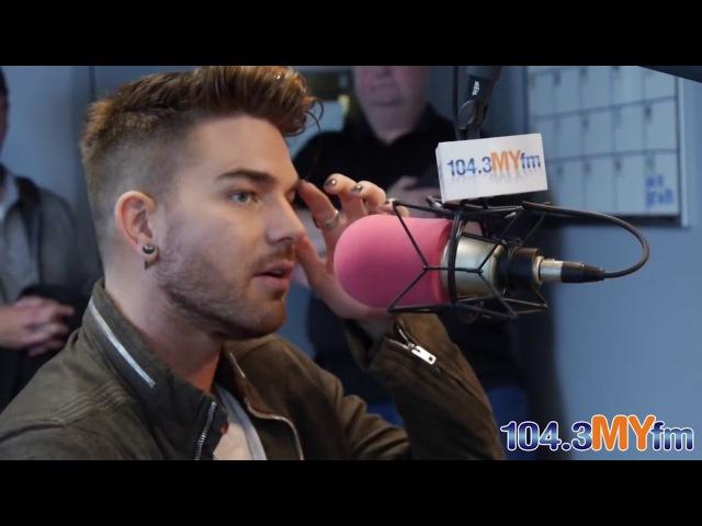Adam Lambert Valentine In The Morning 104.3 MYfm 22.04.15 with russian subtitles русские субтитры