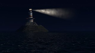 4K Midnight Lighthouse 8HR Sleep Video + Delta Binaural Music with Ocean Sounds for White Noise