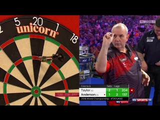 Phil Taylor vs Gary Anderson (PDC World Darts Championship 2018 / Quarter Final)