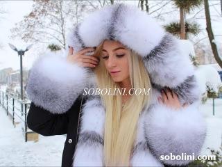 Лакшери коллекция!  Видео роскошной парки с мехом арктической лисы