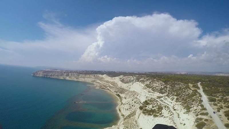 Paragliding in Curium Cyprus