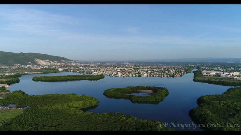 AMAZING VIDEO PORTMORE TOLL AERIAL FOOTAGE DJI PHANTOM 4 PRO JAMAICA