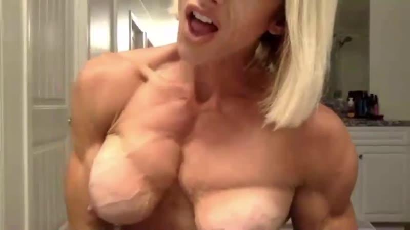 Pec flexing porn