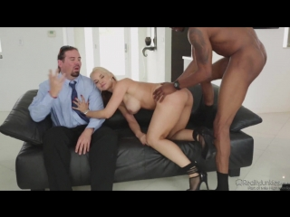 Blonde wife sarah vandella gets revenge fuck bbc in front of chubby [big tits, high heels, cuckold, cheating, interracial]