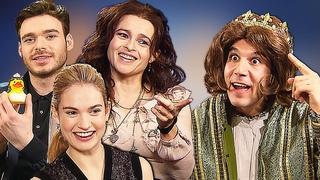 Game of Thrones vs Cinderella Richard Madden, Helena Bonham Carter, Lily James, Kenneth Branagh