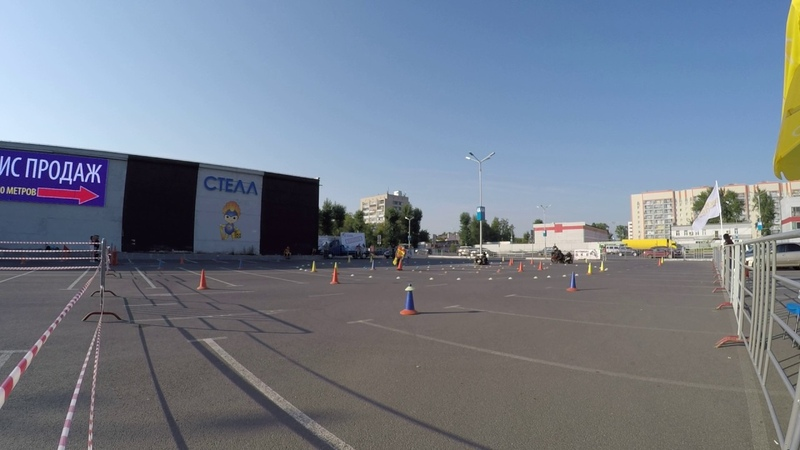 2017 Kazan Cup Moto Gymkhana [D3] / Mirsaitov Kamil Suzuki DL1000 v-strom heat 2
