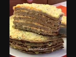 Хозяйка на Всю Голову () печеночный торт