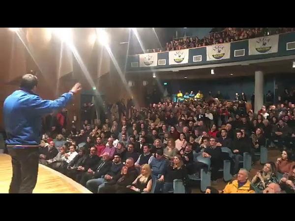 MATTEO SALVINI in diretta da AVEZZANO (L'AQUILA, 27.01.2019)