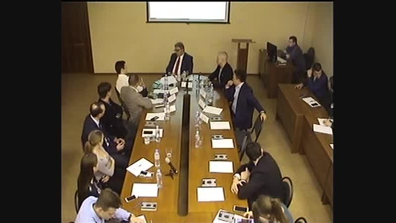 Лекция Государственного секретаря Министерства горного дела и энергетики Республики Сербии Стевицы Деджански