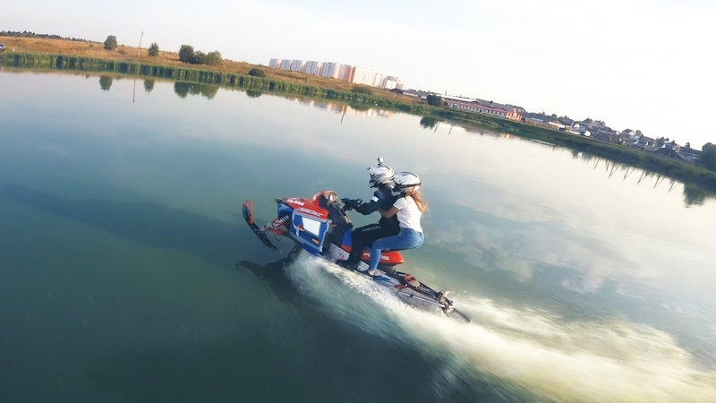 Watercross event 2018 (yes, snowmobiles on water!) FPV РСКвотеркросс
