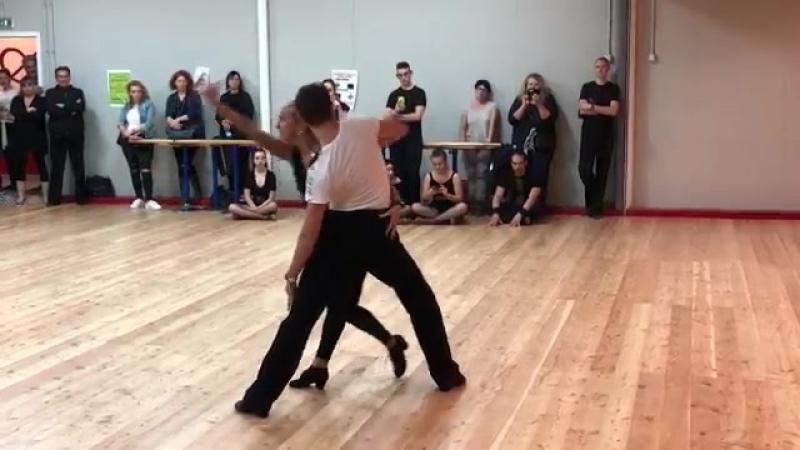 Marius-Andrei Balan and Kristina Moshenskaya Rumba exhibition [360p]