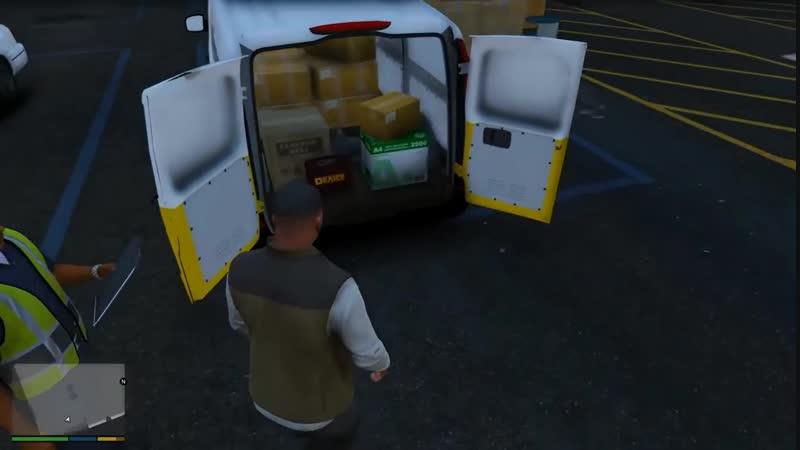 MYRKA Grand Theft Auto V 3 серия Реальная жизнь Переехал В Новую Квартиру! Работаю Курьером!
