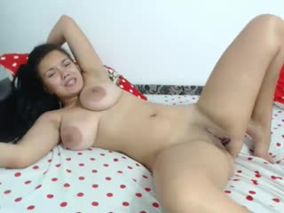 Brunette with big natural boobs hot masturbation and moans