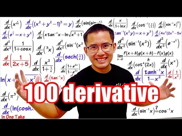 100 Derivatives (in ONE take!)