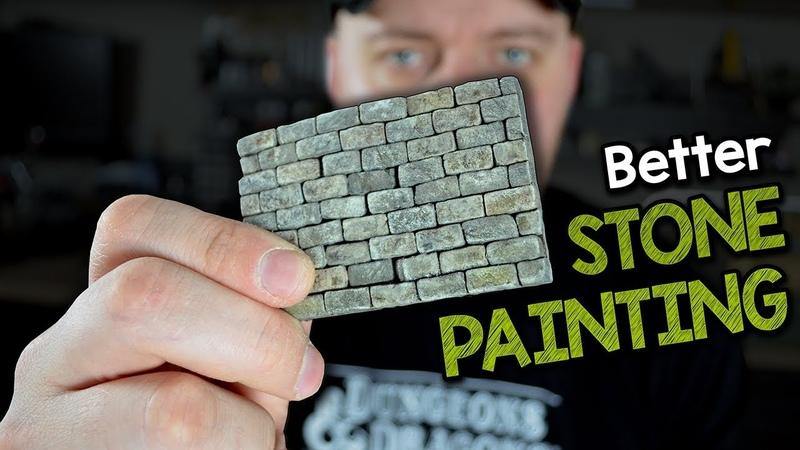 Better Stone Painting Advanced Technique for Stone Bricks Tile Terrain