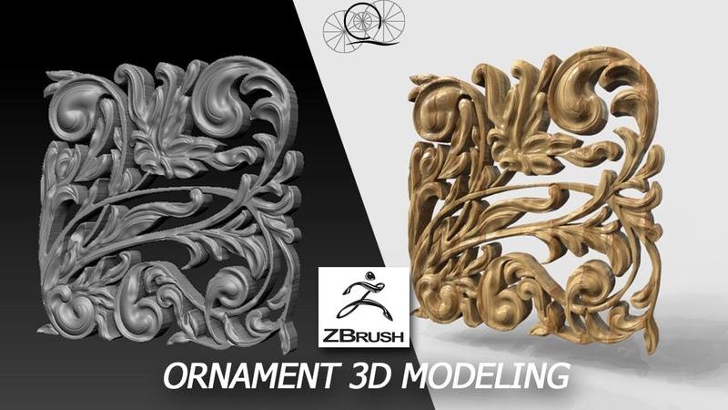 3D Ornament Modeling TIMELAPSE ZBRUSH
